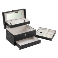 Dulwich Designs 70981 Medium Black Autotray Jewellery Box